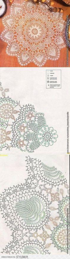 Beautiful crochet doily with graph pattern