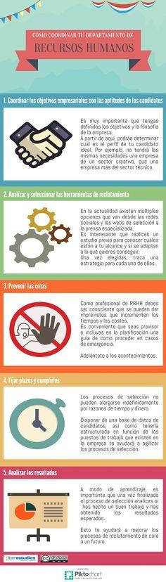5 consejos para coordinar tu Departamento de Recursos Humanos #infografia #rrhh