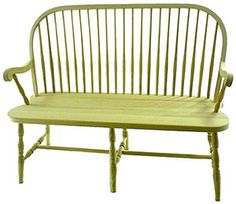 WCF Round Spindle Deacons Bench with Arms #12B