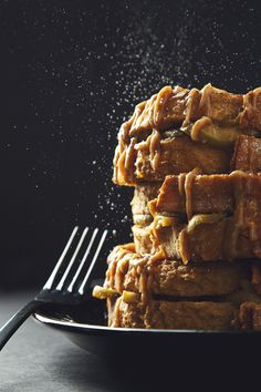 Caramel Apple-Stuffed French Toast
