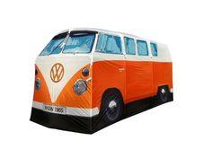 Kult! VW Bulli Bus Camper Zelt - Vier-Personen-Zelt in 1:1 VW T1 Campervan Bulli Design