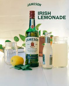 Lemonade, but make it adult. We're mixing up a simple summer favorite with Jameson, lemonade, and ginger beer. Jameson Whiskey Drinks, Beer Mixed Drinks, Whiskey Cocktails, Cocktail Drinks, Fancy Drinks, Bar Drinks, Yummy Drinks, Beverages, Jameson And Ginger