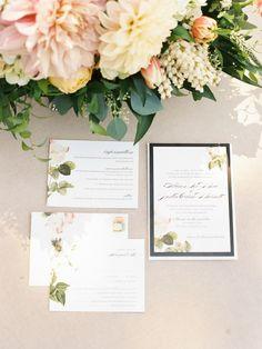 Lovely floral wedding invitation set - so beautiful! #wedding #weddinginvitations #gardenparty #floral #gardenpartywedding
