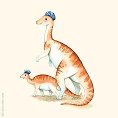 Watercolor dinosaurs | Flickr - Photo Sharing!