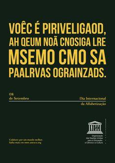 Campanha de conscientização - Peça fantasma criada para a Unesco