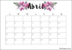 Calendario descargable Abril 2016 #imprimible #printable #calendar