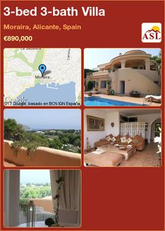 3-bed 3-bath Villa in Moraira, Alicante, Spain ►€890,000 #PropertyForSaleInSpain