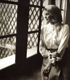 Princess Grace pictured by Harry Benson in April 1982 I always thought she looked sad here. She didn't have much time left.