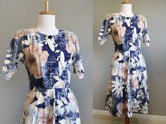 Shirtwaist Dress Vintage Floral 80s does by InTheHammockVintage, $20.00