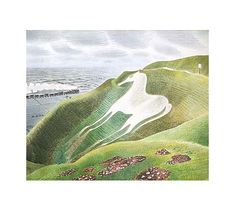 white horse by eric ravilious