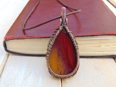 Mookaite Tree Of Life Pendant Wire Wrapped by EmmaWyattArt