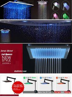 Multi Shower Set led shower head light  http://www.bathselect.com/led-showers-s/55.htm