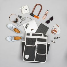 Set for a banging Bank Holiday? Whatever you've got planned pack it in the Monochrome Market Shopper - turns from a backpack to a tote to a pannier bag all in one. Bicycle Panniers, Bicycle Bag, Cycling Bag, Cycling Outfit, Cycling Clothing, Backpack Straps, Backpack Bags, Japanese School Bag