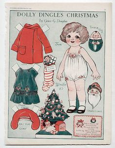 Dolly Dingle's Christmas, by Grace Drayton - Pictorial review, December 1929