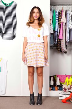Cool Style, My Style, Oui Oui, Scoop Neck, Polka Dots, Summer Dresses, Chic, Tees, Skirts