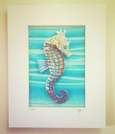 Seed Bead Embroidered Seahorse by Epigman on Etsy, $100.00