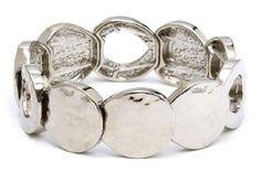 Round Flat Silver Bracelet.  Item #PB0280RD $14  Available at Impulse Gifts 812.481.2880 We ship daily.   https://www.facebook.com/ImpulseJasper