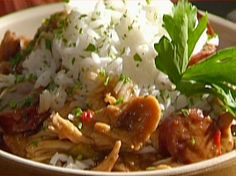 Emeril's Chicken and Smoked Sausage Gumbo with White Rice - larger size