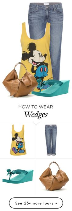 """Untitled #13958"" by nanette-253 on Polyvore featuring Paige Denim, Forever 21, Valentino, women's clothing, women's fashion, women, female, woman, misses and juniors"