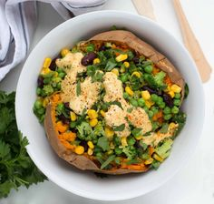 Gefüllte Süßkartoffel mit Gemüse - fettarm & vegan