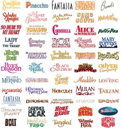 Names of classic disney movies .