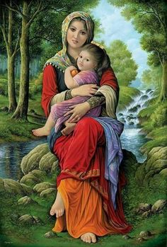 17 by on DeviantArt Beautiful Fantasy Art, Beautiful Paintings, Catholic Pictures, Indian Art Paintings, Iranian Art, Jolie Photo, Woman Painting, Portrait Art, Female Art