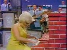 "Jo Ann Castle on the honky tonk piano (made of bricks); from the 1967 show ""My North Dakota Days"""