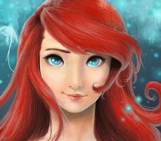 Underwater Red Hair by ~honeychan96 on deviantART