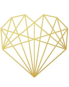 {Gold Geometric Heart | Free Printable}