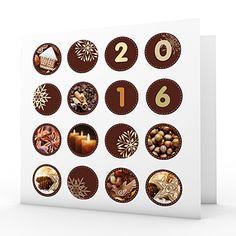 Cartes de Voeux Professionnels - Couleur chocolat - 1