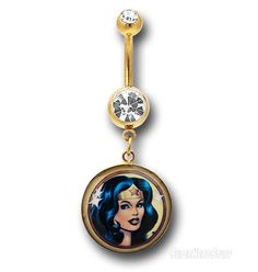 Images of Wonder Woman 316L Surgical Steel Cartilage Earring