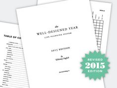 Well-Designed Year: Life Planning System Digital by whitneyenglish