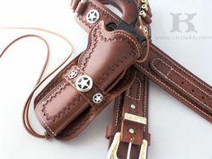 The Gunsmoke is SMOKIN' HOT! #westernholsters #leatherholsters WWW.CIRCLEKB.COM