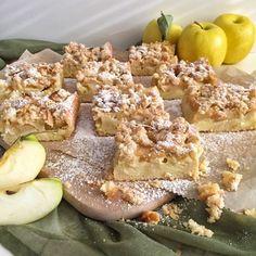 Apfelkuchen mit Pudding und Streuseln - Knuspergeburtstagsgruß fürs Knusperstübchen