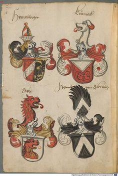 Wappen deutscher Geschlechter Augsburg ?, 4. Viertel 15. Jh. Cod.icon. 311 Folio 63v