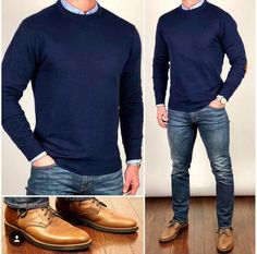 Blue Tones 👕💙👖 Blue is my favor… - Lässige Herrenmode Look Jean, Style Masculin, Herren Outfit, Stylish Mens Outfits, Mode Chic, Inspiration Mode, Business Casual Outfits, Mens Modern Business Casual, Mens Fashion Suits