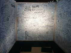 darkness into light- have people write on the walls of a prayer station.