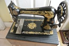 Antique Singer 27K Sewing Machine With Beautiful Decals by ZionVintageCrafts on Etsy