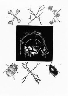 Gothic/black metal patch, punk patch, alternative accessories, metal style, skull patch, morbid art, ink art, dark art, nature art.