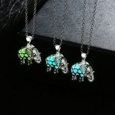 Drop Shipping Glow in the Dark Silver Color Luminous Stone Animal Thailand Elephant Pendant Necklace for Party Glowing Jewelry-in Pendant Necklaces from Jewelry & Accessories on Aliexpress.com | Alibaba Group