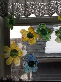 Flower suncatchers for spring