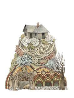 Sweet Home I // 5x7 Art Print // Woodland Illustration
