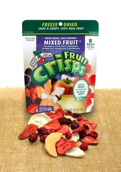 New Product!  This is so delicious, its like a fruit salad designed for on-the-go!  Our new Mixed Fruit variety of Fruit Crisps consists of Fuji Apples, Asian Pears, Cantaloupe, Strawberries, Raspberries, and Blackberries. Each bag contains eight full servings of fruit! Large, 1oz. reclosable bag! Pack of 8    #fruitsnack #driedfruit #freezedried #healthysnack #brothersallnatural
