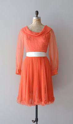 vintage 60s chiffon dress | Sweet Clementine dress