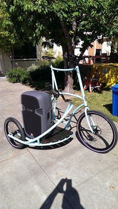 Real nice cargo bike build for soundsystem haulin' by Jake Ryder of Portland, Oregon.