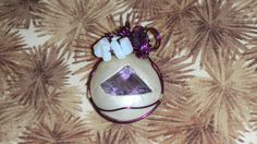Handmade Pendant, Amethyst, Clay Jewelry, Metaphysical, Moonstone by DeanasQuiltsandMore on Etsy