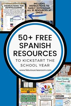 Do you need a little help getting ready to head back into the classroom? Don't worry, we've got you covered! This amazing Back to School Resource Library for Secondary Spanish has 27 resources, perfect for back to school! There is also an Elementary Resource Library, as well as a surprise you do not want to miss! #teacher #teaching #backtoschool #education #teachers #spanishteacher #spanishlessons #spanishlearning Spanish Teaching Resources, School Resources, Teacher Resources, Homeschooling Resources, Spanish Lesson Plans, Spanish Lessons, Spanish Projects, Lesson Plan Templates, Spanish Teacher