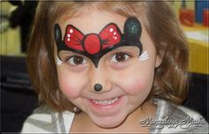 Cute Minnie Mouse Face Paint. Could also just be Micky Mouse Without the Bow