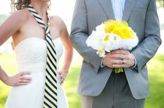 Tie on bride and bouquet with groom....love! :)