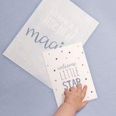 Little Dutch ★ Posters & cards ★  #littledutch #poster #card #stars #hand #blue #boy #magic